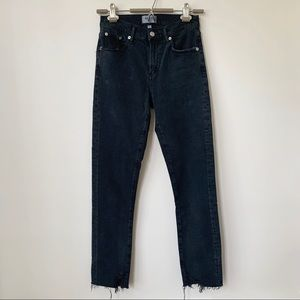 AGOLDE   SOPHIE ANKLE SHOUT SKINNY DISTRESSED JEAN